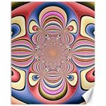 Pastel Shades Ornamental Flower Canvas 11  x 14   14 x11 Canvas - 1