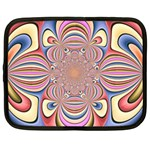 Pastel Shades Ornamental Flower Netbook Case (Large) Front
