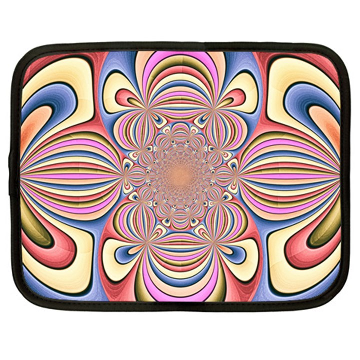 Pastel Shades Ornamental Flower Netbook Case (Large)