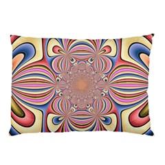 Pastel Shades Ornamental Flower Pillow Case by designworld65