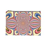 Pastel Shades Ornamental Flower Cosmetic Bag (Large)  Front