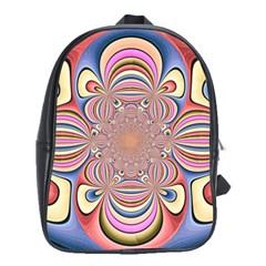 Pastel Shades Ornamental Flower School Bags(Large)