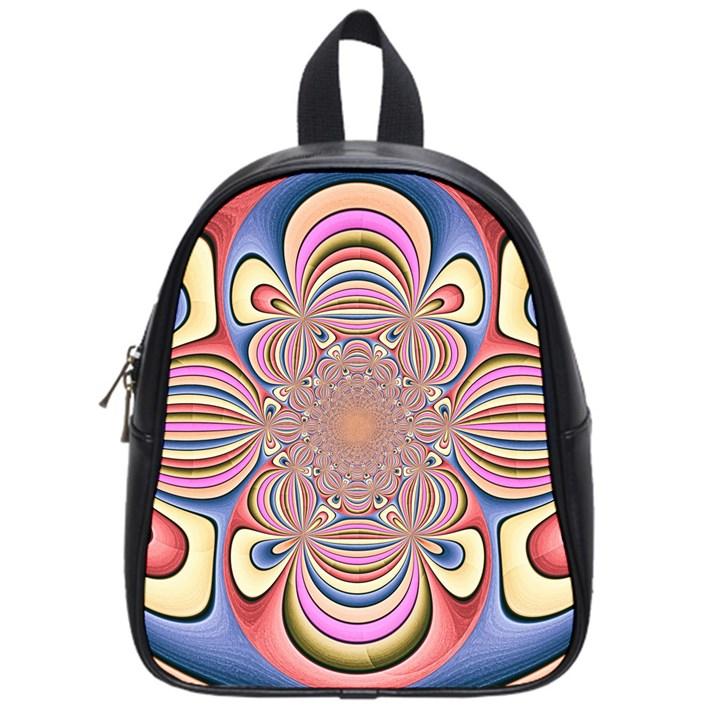 Pastel Shades Ornamental Flower School Bags (Small)