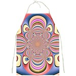 Pastel Shades Ornamental Flower Full Print Aprons Front