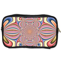 Pastel Shades Ornamental Flower Toiletries Bags