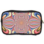 Pastel Shades Ornamental Flower Toiletries Bags 2-Side Front