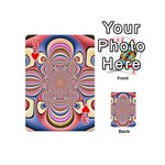 Pastel Shades Ornamental Flower Playing Cards 54 (Mini)  Front - Heart3