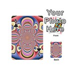 Pastel Shades Ornamental Flower Playing Cards 54 (Mini)  Front - Club5