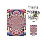 Pastel Shades Ornamental Flower Playing Cards 54 (Mini)  Front - Spade9
