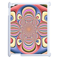 Pastel Shades Ornamental Flower Apple Ipad 2 Case (white) by designworld65