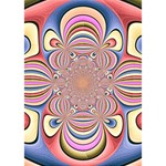 Pastel Shades Ornamental Flower Heart Bottom 3D Greeting Card (7x5) Inside