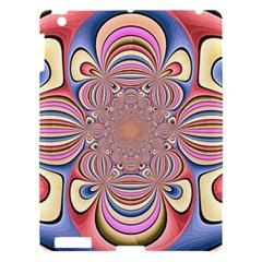 Pastel Shades Ornamental Flower Apple Ipad 3/4 Hardshell Case by designworld65