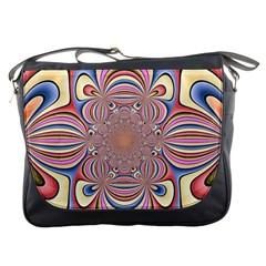 Pastel Shades Ornamental Flower Messenger Bags