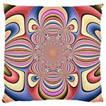 Pastel Shades Ornamental Flower Large Cushion Case (Two Sides) Front