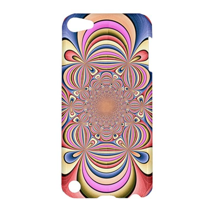 Pastel Shades Ornamental Flower Apple iPod Touch 5 Hardshell Case