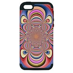 Pastel Shades Ornamental Flower Apple Iphone 5 Hardshell Case (pc+silicone) by designworld65