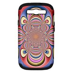 Pastel Shades Ornamental Flower Samsung Galaxy S Iii Hardshell Case (pc+silicone)