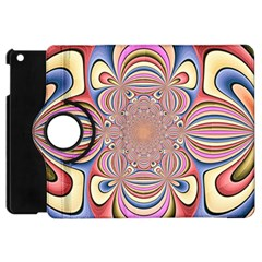 Pastel Shades Ornamental Flower Apple Ipad Mini Flip 360 Case by designworld65
