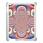 Pastel Shades Ornamental Flower Apple iPad 3/4 Case (White) Front
