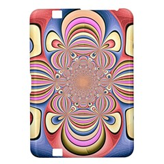 Pastel Shades Ornamental Flower Kindle Fire Hd 8 9  by designworld65