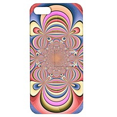 Pastel Shades Ornamental Flower Apple Iphone 5 Hardshell Case With Stand