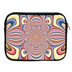 Pastel Shades Ornamental Flower Apple iPad 2/3/4 Zipper Cases Front