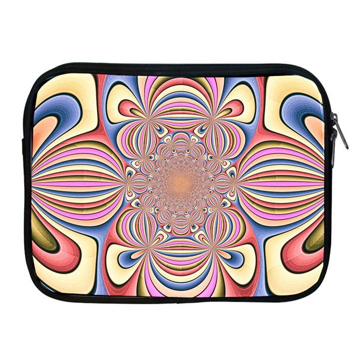 Pastel Shades Ornamental Flower Apple iPad 2/3/4 Zipper Cases