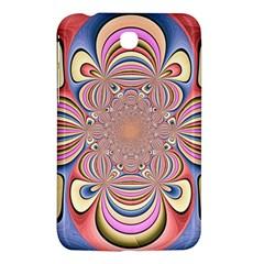 Pastel Shades Ornamental Flower Samsung Galaxy Tab 3 (7 ) P3200 Hardshell Case