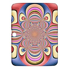 Pastel Shades Ornamental Flower Samsung Galaxy Tab 3 (10 1 ) P5200 Hardshell Case  by designworld65