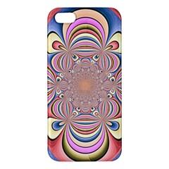 Pastel Shades Ornamental Flower iPhone 5S/ SE Premium Hardshell Case