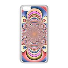 Pastel Shades Ornamental Flower Apple Iphone 5c Seamless Case (white) by designworld65