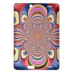 Pastel Shades Ornamental Flower Amazon Kindle Fire Hd (2013) Hardshell Case by designworld65