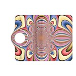 Pastel Shades Ornamental Flower Kindle Fire HD (2013) Flip 360 Case Front
