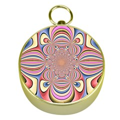 Pastel Shades Ornamental Flower Gold Compasses