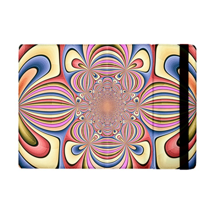 Pastel Shades Ornamental Flower iPad Mini 2 Flip Cases