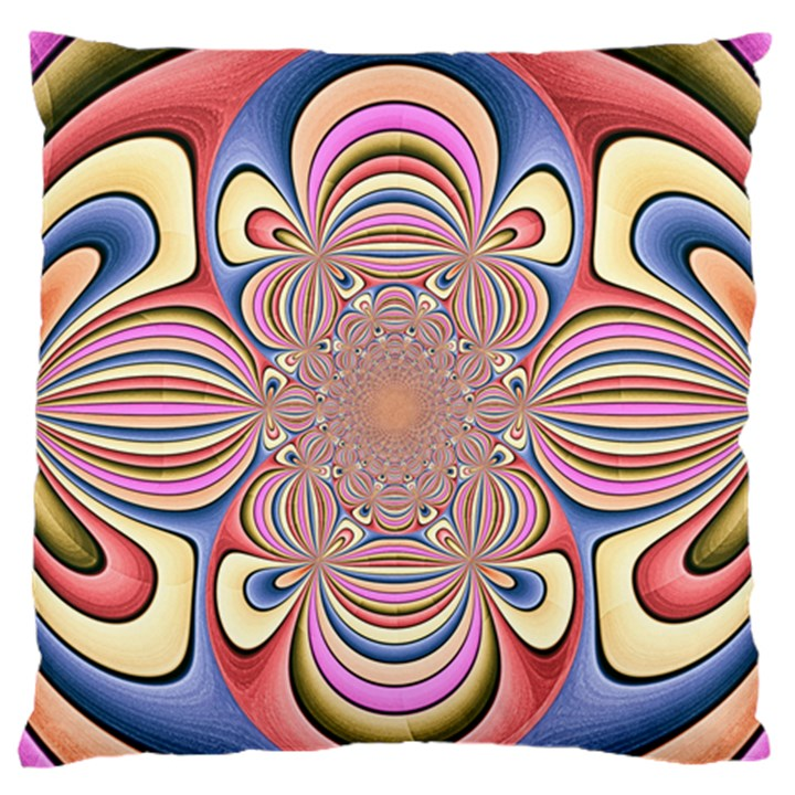 Pastel Shades Ornamental Flower Standard Flano Cushion Case (One Side)