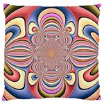 Pastel Shades Ornamental Flower Large Flano Cushion Case (Two Sides) Back