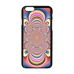 Pastel Shades Ornamental Flower Apple iPhone 6/6S Black Enamel Case