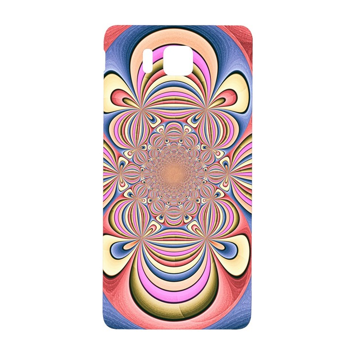 Pastel Shades Ornamental Flower Samsung Galaxy Alpha Hardshell Back Case