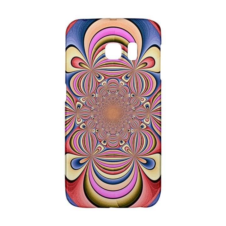 Pastel Shades Ornamental Flower Galaxy S6 Edge