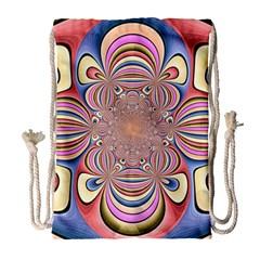 Pastel Shades Ornamental Flower Drawstring Bag (large) by designworld65
