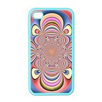 Pastel Shades Ornamental Flower Apple iPhone 4 Case (Color) Front