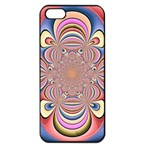 Pastel Shades Ornamental Flower Apple iPhone 5 Seamless Case (Black) Front