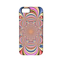 Pastel Shades Ornamental Flower Apple Iphone 5 Classic Hardshell Case (pc+silicone)
