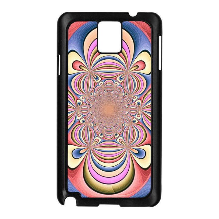 Pastel Shades Ornamental Flower Samsung Galaxy Note 3 N9005 Case (Black)