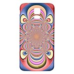 Pastel Shades Ornamental Flower Samsung Galaxy S5 Back Case (White) Front