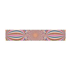 Pastel Shades Ornamental Flower Flano Scarf (mini)