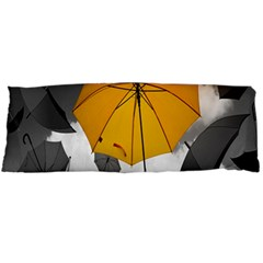 Umbrella Yellow Black White Body Pillow Case (Dakimakura) by Zeze