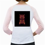 Alphabet Shirt Girly Raglans Back