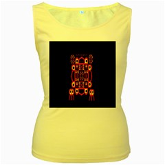 Alphabet Shirt Women s Yellow Tank Top